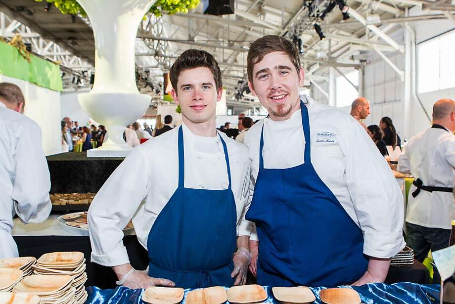 Trent Chapman, Justin Baade of Waterbar at the Meals on Wheels' Star Chefs & Vintners Gala on April 21, 2013. Photo: Drew Altizer Photography