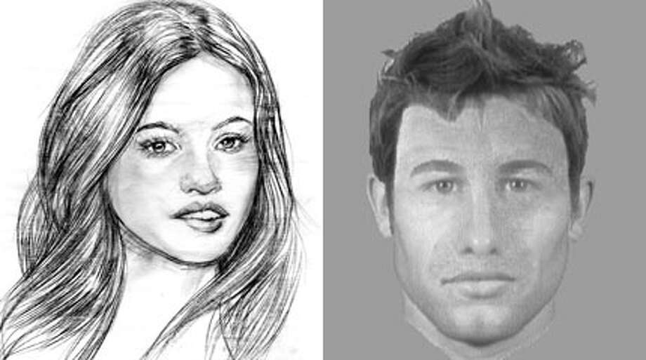Sketches of what the innocent-until-coaxed Anastasia Steele and sadomasochistic billionaire Christian Grey might look like if they were real people. 