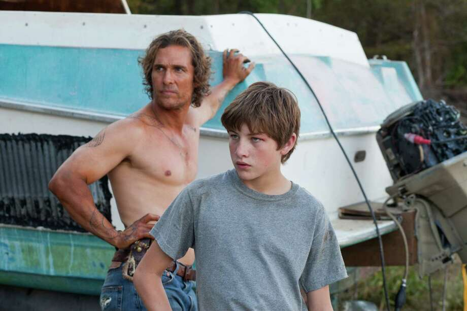 "This film image released by Roadside Attractions shows Matthew McConaughey, left, and Tye Sheridan in a scene from ""Mud."" Photo: Jim Bridges"