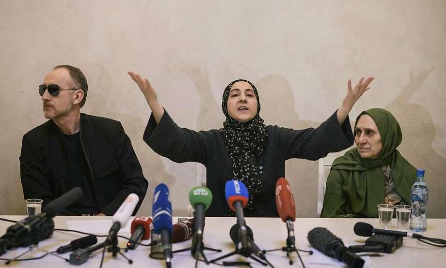 Zubeidat Tsarnaeva (center) talked about jihad with her eldest son, Russian officials told the FBI. Photo: Dmitry Kostyukov, New York Times