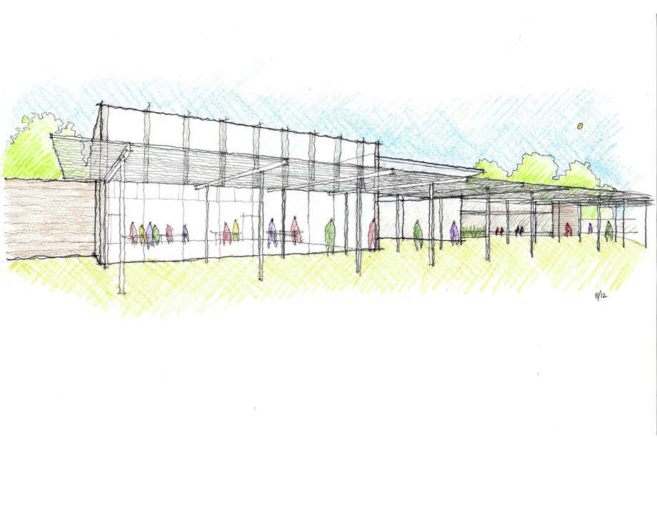 A rendering of the planned Cherie Flores Garden Pavilion at the Hermann Park Garden Center, being designed by Peter Bohlin. Photo: Hermann Park Conservancy