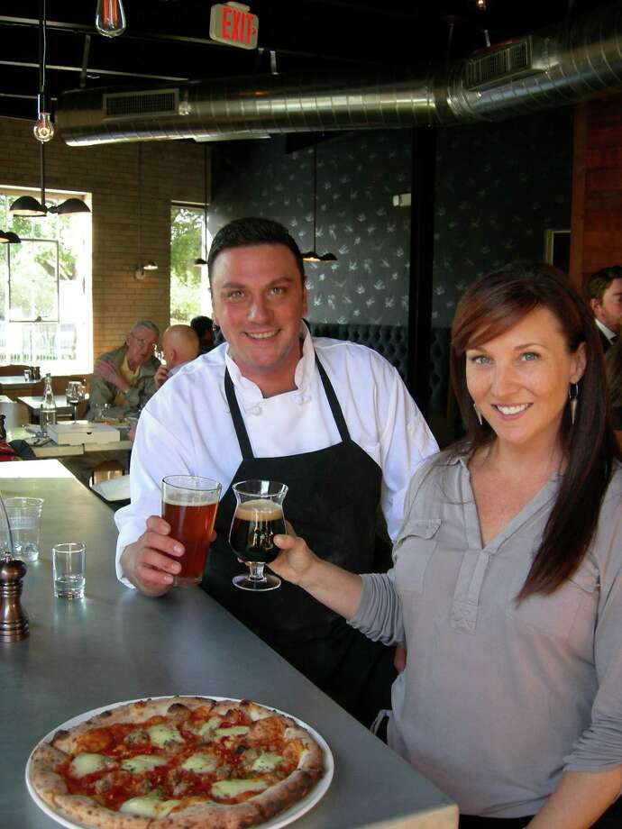 Stella Public House chef Roland Aguirre and co-owner Kris Hardy have brought pizza to Blue Star Arts Complex.
