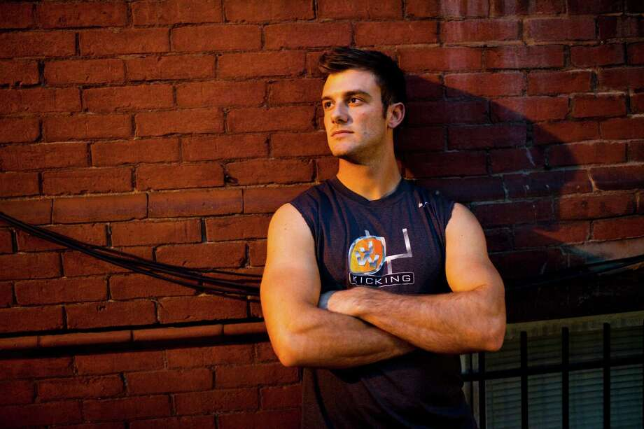 Alan Gendreau, Middle Tennessee State's former kicker, outside his home in Washington, April 22, 2013. Gendreau hopes coming out as gay inspires others and does not hurt his professional prospects. Photo: CHRISTOPHER GREGORY, New York Times / NYTNS