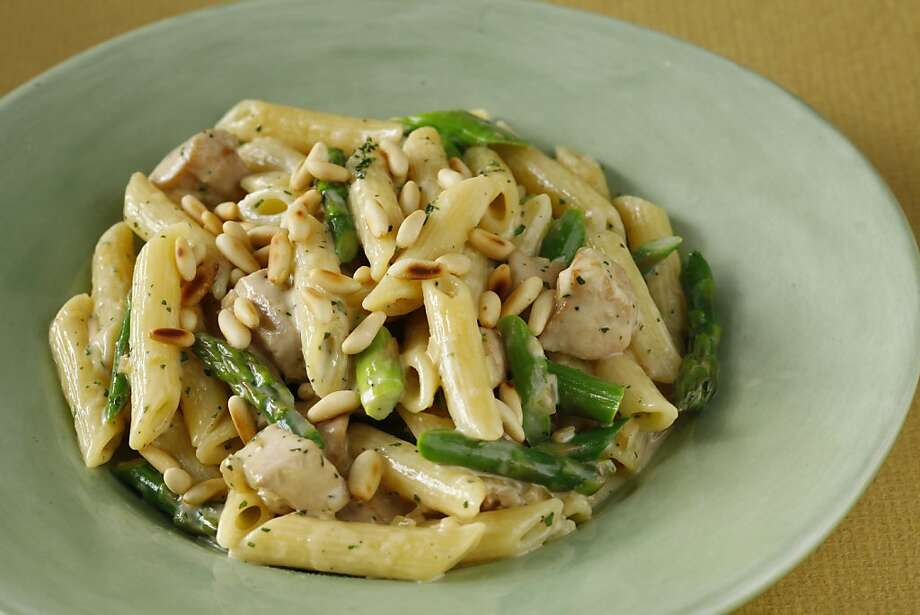 Pasta With Chicken, Asparagus & Tarragon shows how licorice tantalizes our taste buds in so many forms. Photo: Craig Lee, Special To The Chronicle