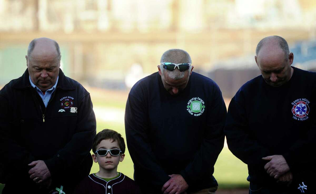 Newtown and Sandy Hook students and first responders participated in a recognition ceremony before the