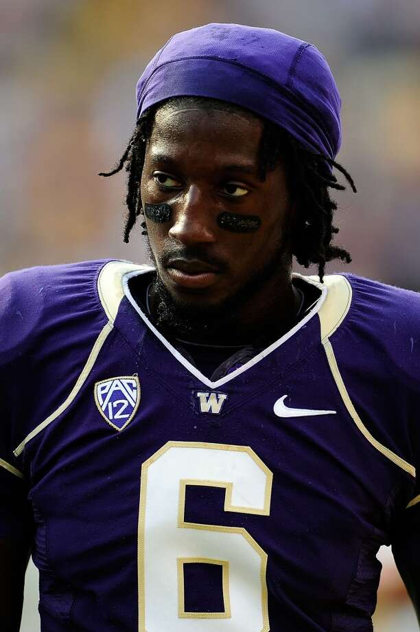 Desmond Trufant is seen during warmups before the Huskies took on the LSU Tigers on Sept. 8 in Baton Rouge, La. The Huskies lost 41-3.