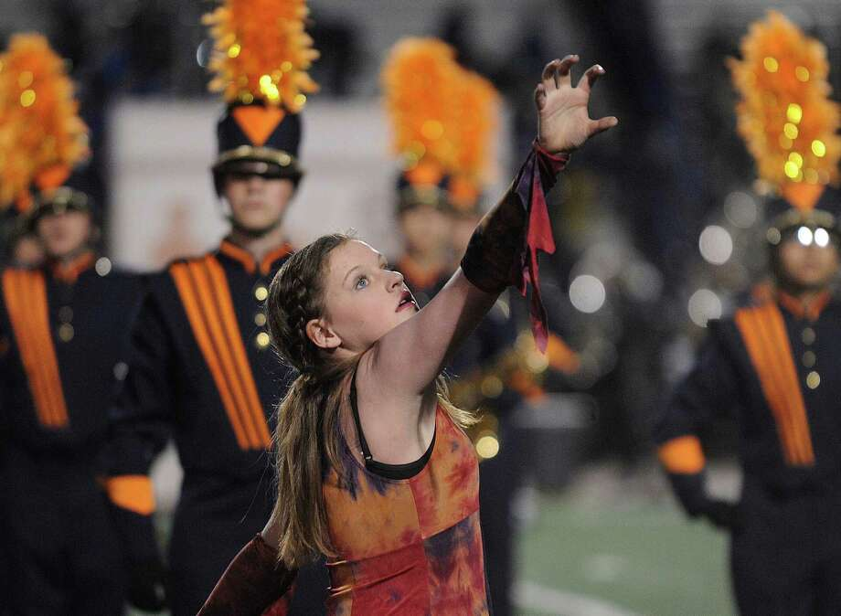The Brandeis High School band performs at the Battle of Flowers Band Festival on Thursday, April 25, 2013. Photo: Billy Calzada / San Antonio Express-News