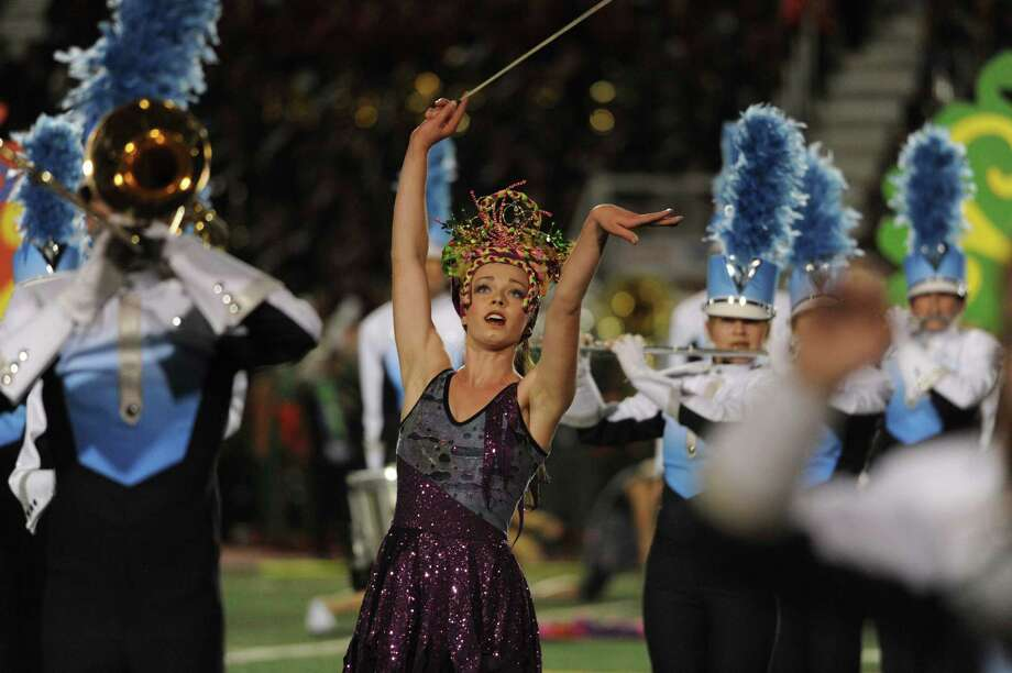 "The Johnson High School Band performs during the 75th anniversary Battle of Flowers Band Festival, entitled ""Celebrations!"" at Comalander Stadiium on Thursday, April 25, 2013. Photo: Billy Calzada / San Antonio Express-News"
