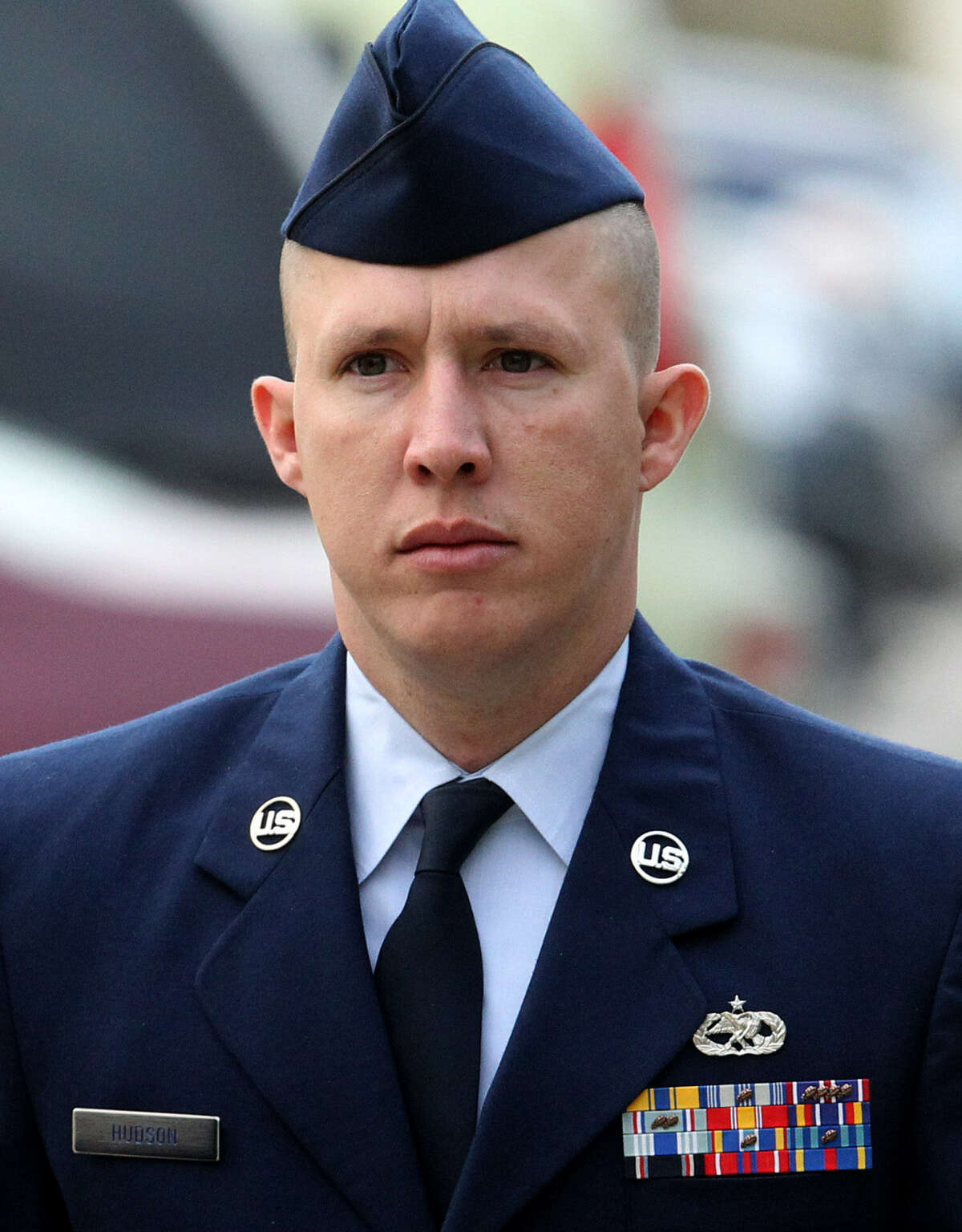 """Staff Sgt. Robert Hudson asked the judge to """"have mercy on my family. My family needs me."""""""