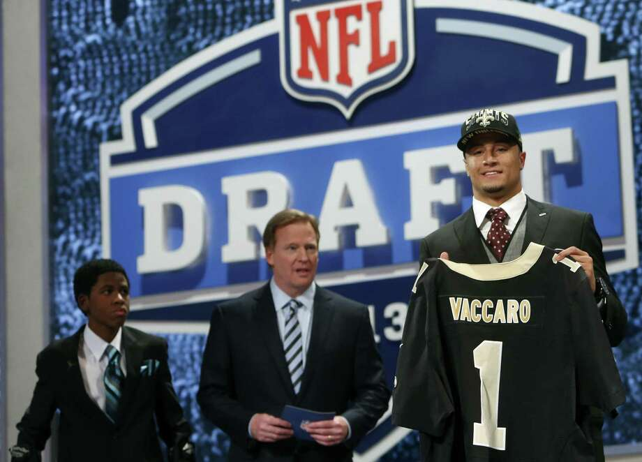 Kenny Vaccaro is the first Longhorn drafted in the first round since Seattle picked Earl Thomas in 2010. With Vaccaro, UT should have 12 former defensive backs playing in the NFL in 2013. Photo: Jason DeCrow / Associated Press