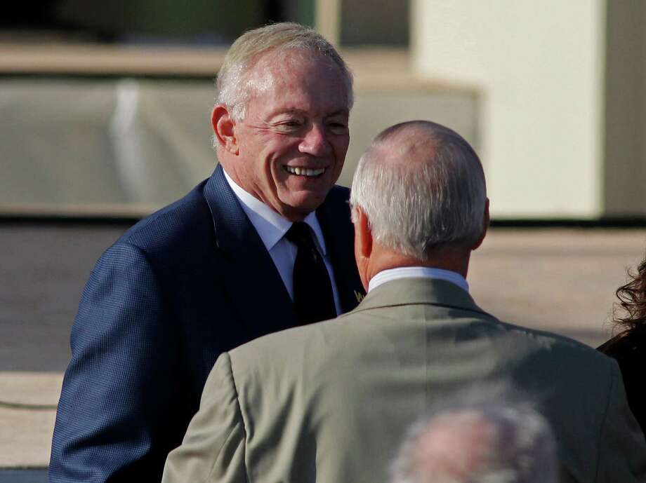 Jerry Jones on Thursday partook in the dedication of the George W. Bush Presidential Center in Dallas. Photo: Paul Moseley, MBR / Fort Worth Star-Telegram
