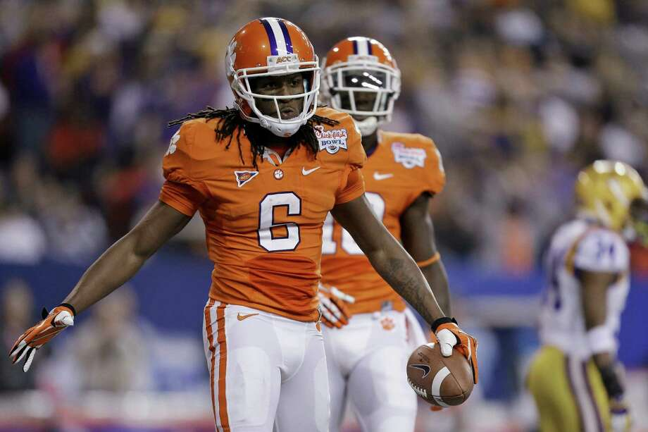 DeAndre Hopkins had a productive three-year career at Clemson, setting the school record for receiving yards, touchdowns and 100-yard games. He had a touchdown reception in each of his last 12 games with the Tigers. Photo: David Goldman, STF / AP2012