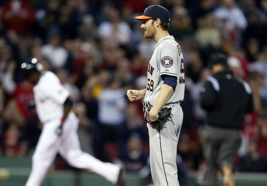 April 25: Red Sox 7, Astros 2  Houston received a rude welcome after not playing at Fenway Park for 10 seasons.  Record: 7-15. Photo: Michael Dwyer, Associated Press
