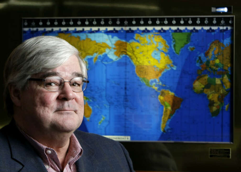 Pete Miller, CEO of National Oilwell Varco, in his office. Photo: Karen Warren, Houston Chronicle