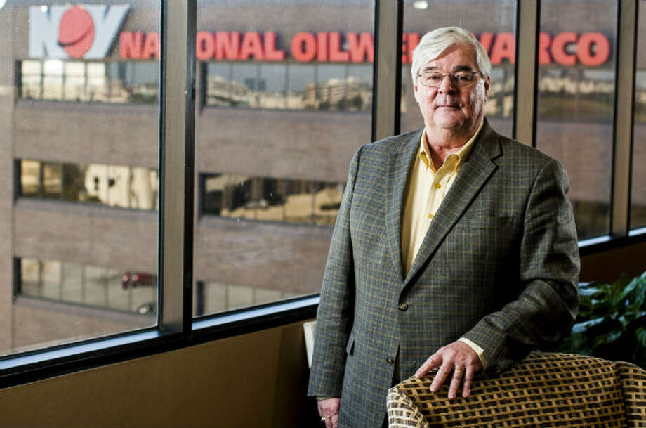 Pete Miller, CEO of National Oilwell Varco, at the company's Houston office. Photo: Nick De La Torre, Houston Chronicle