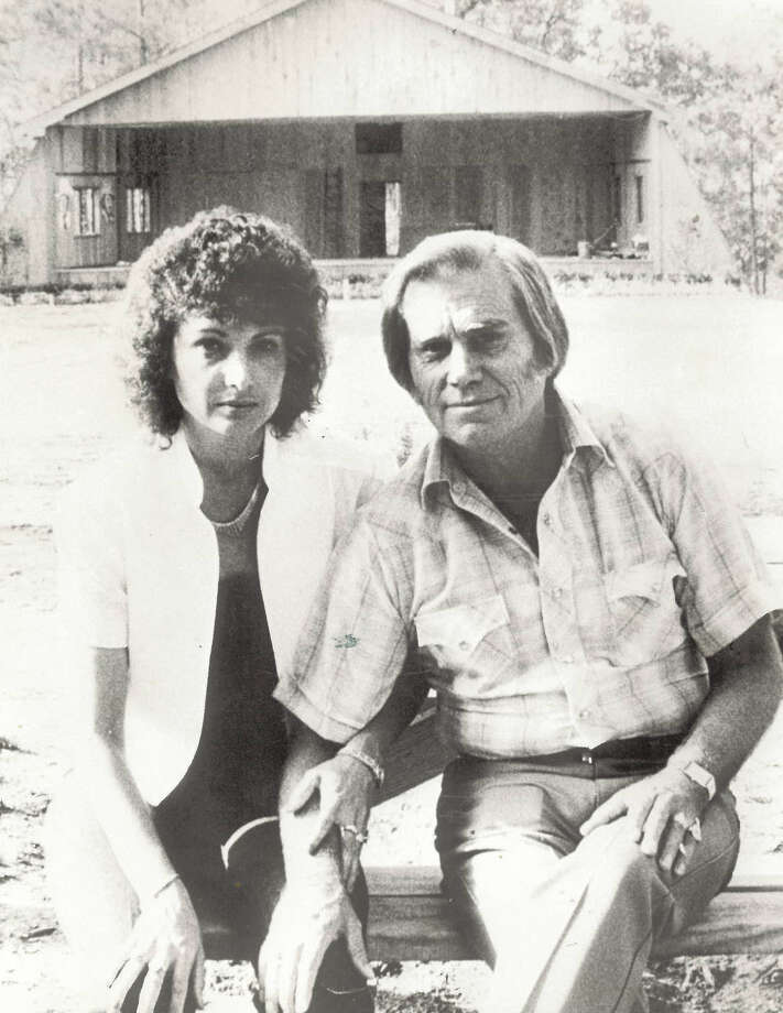 George Jones and wife Nancy in front of the stage at Jones Country Park in 1983. Photo: The Beaumont Enterprise archives.