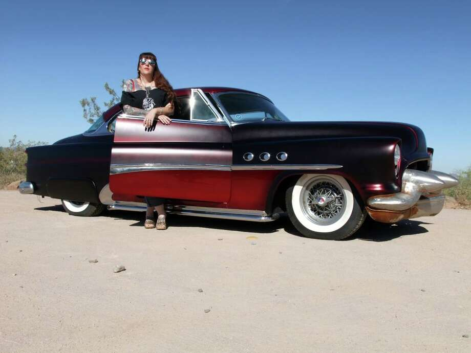 Sara Ray tools around Southern California in her 1953 Buick full-custom (shown) or her 1939 Cadillac LaSalle.