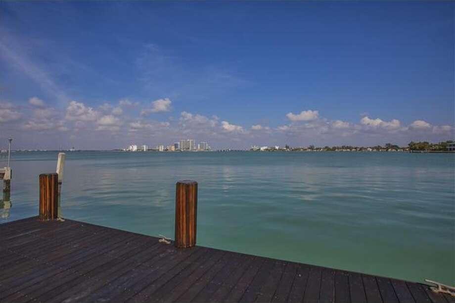 Dock and view. Photos via Realtor.com