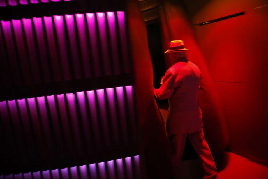 A guest walks through the door at the 56th San Francisco International Film Festival opening night party at Temple Nightclub in San Francisco, Calif., on Thursday, April 25 2013. Photo: Carlos Avila Gonzalez, The Chronicle