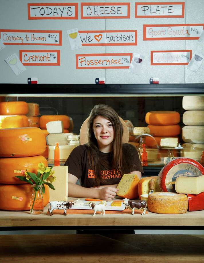 Haley Ray, who works as a cheesemonger for Houston Dairymaids, is president of the Young Leaders at the Houston Area Women's Center. Photo: Michael Paulsen, Staff / © 2013 Houston Chronicle