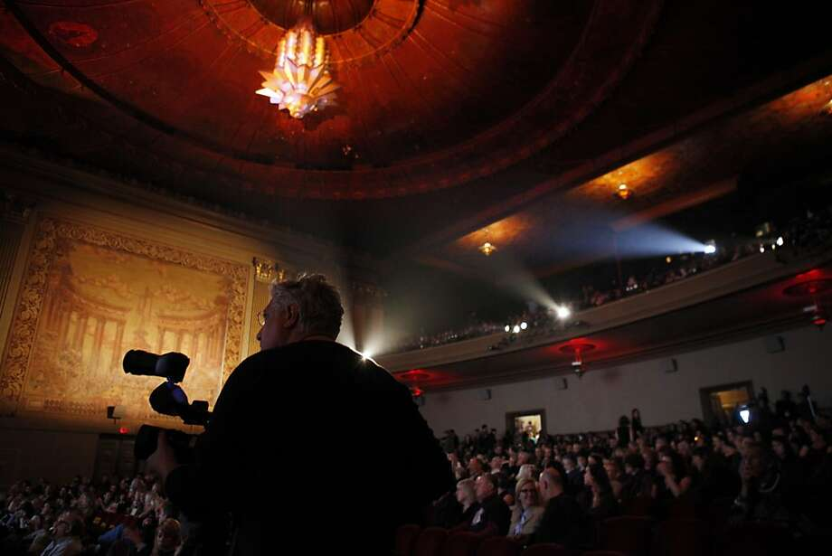 """The crowd gathered at the Castro Theater waits for beginning of the film, """"What Maisie Knew,"""" during the 56th San Francisco International Film Festival in San Francisco, Calif., on Thursday, April 25 2013. Photo: Carlos Avila Gonzalez, The Chronicle"""