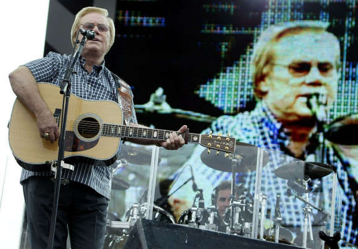 George Jones performs during the Winston Cup Extreme Tribute Party at Lowe's Motor Speedway in Concord, N.C., Tuesday, Oct. 7, 2003.