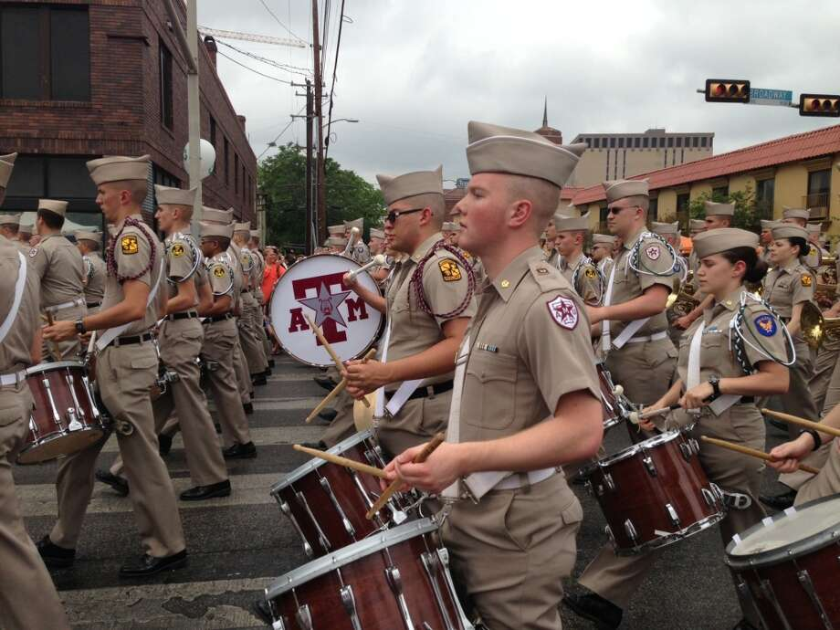 The Fightin' Texas Aggie Band at the parade.