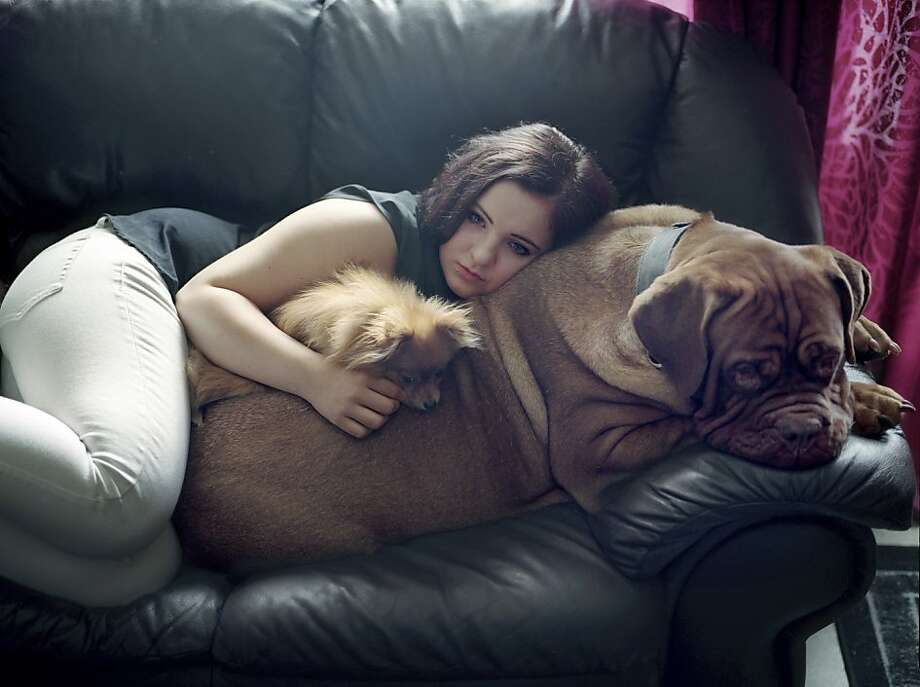 Comfy couch cushions: Fifteen-year-old Iselin Rose Borch, one of the young survivors of the 2011 Utoya Island massacre in Norway, relaxes at home in Grong, Norway, with her pet dogs. Andrea Gjestvang of Norway won the L'Iris d'Or/Photographer of the Year award - part of the 2013 Sony World Photography Awards - for this shot and others documenting teenage survivors of the rampage. Photo: Andrea Gjestvang, Associated Press