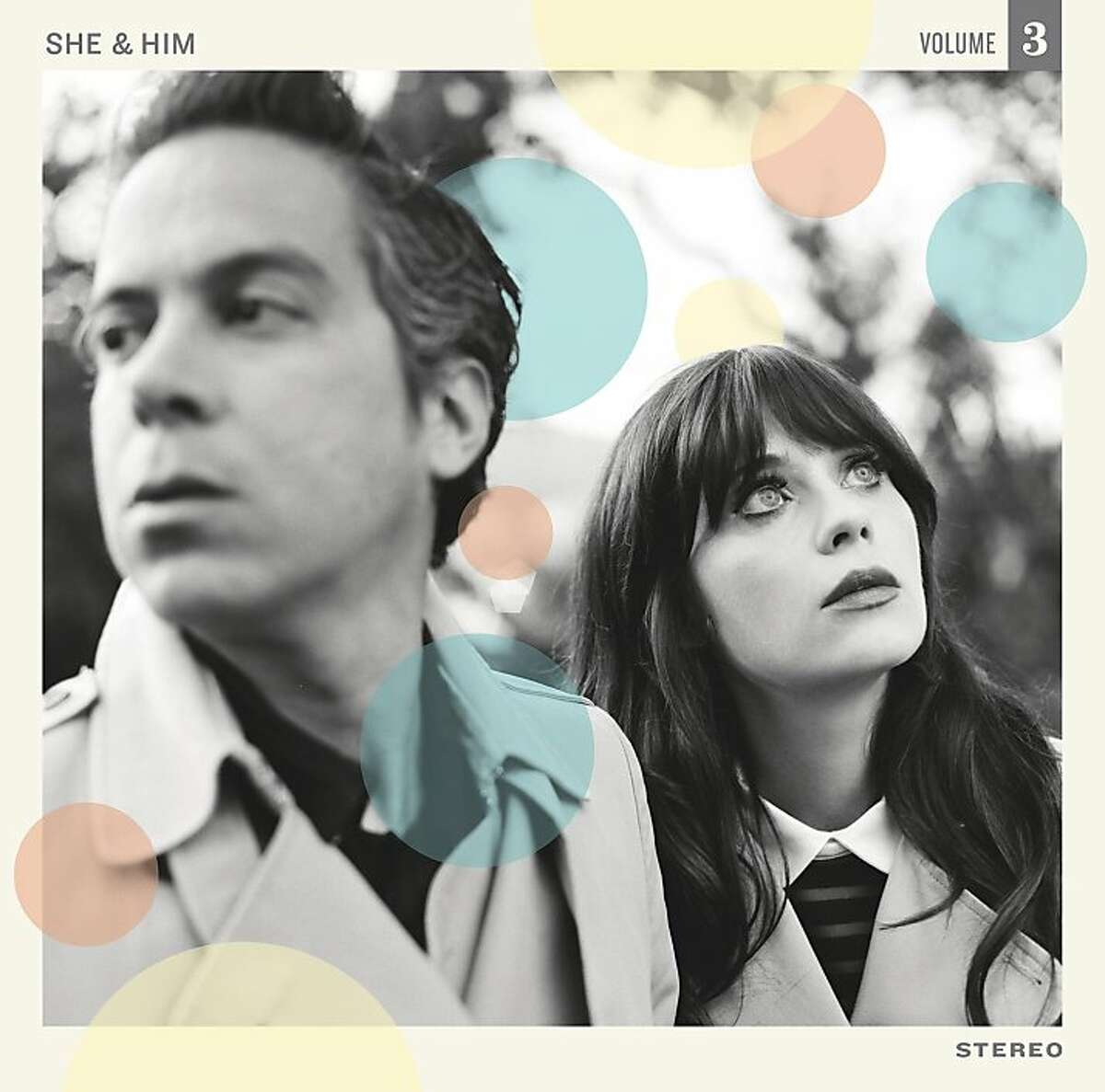 M. Ward and Zooey Deschanel, as featured on the cover of She and Him's 'Volume 3'.