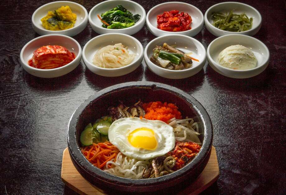 The Bi Bim Bap with Fish Roe at Su-Dam Korean Cuisine.