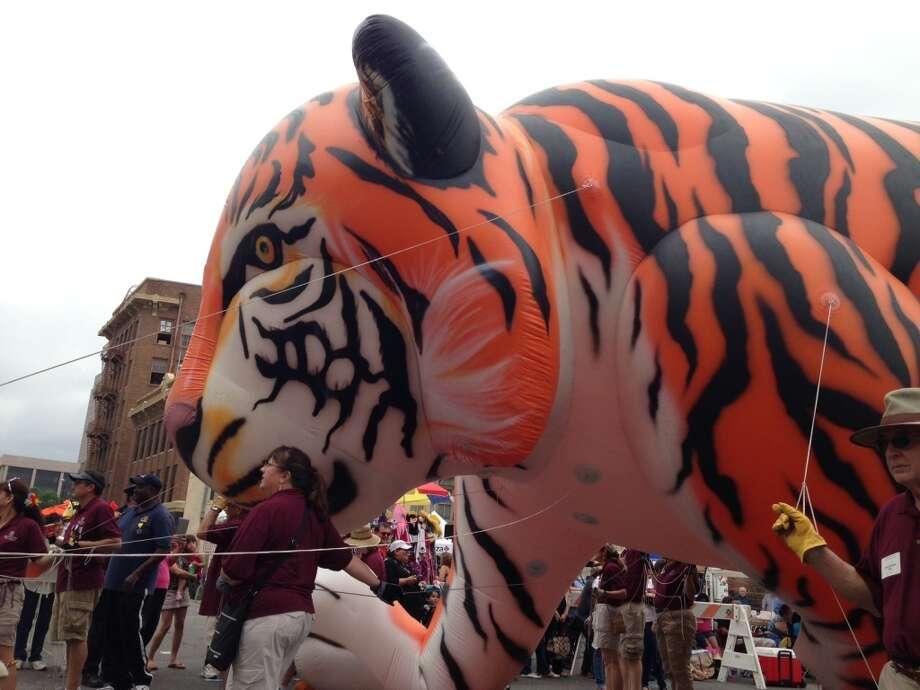 Trinity University's Tiger balloon.