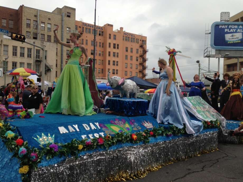 The May Day Fest float