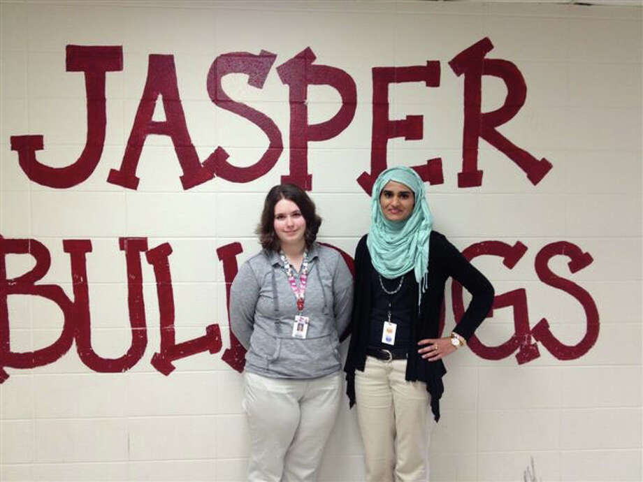 Holly Sedtal and Niha Zafar advance to the State spelling meet Courtesy photo