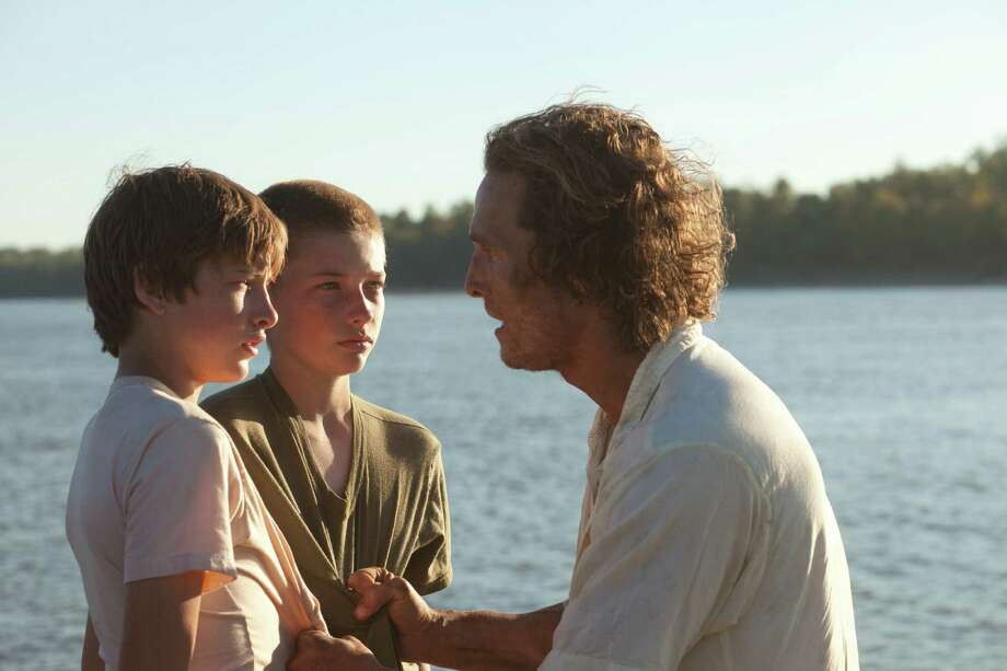 "Tye Sheridan (from left), Jacob Lofland and Matthew McConaughey star in ""Mud."" Photo: Roadside Attractions"