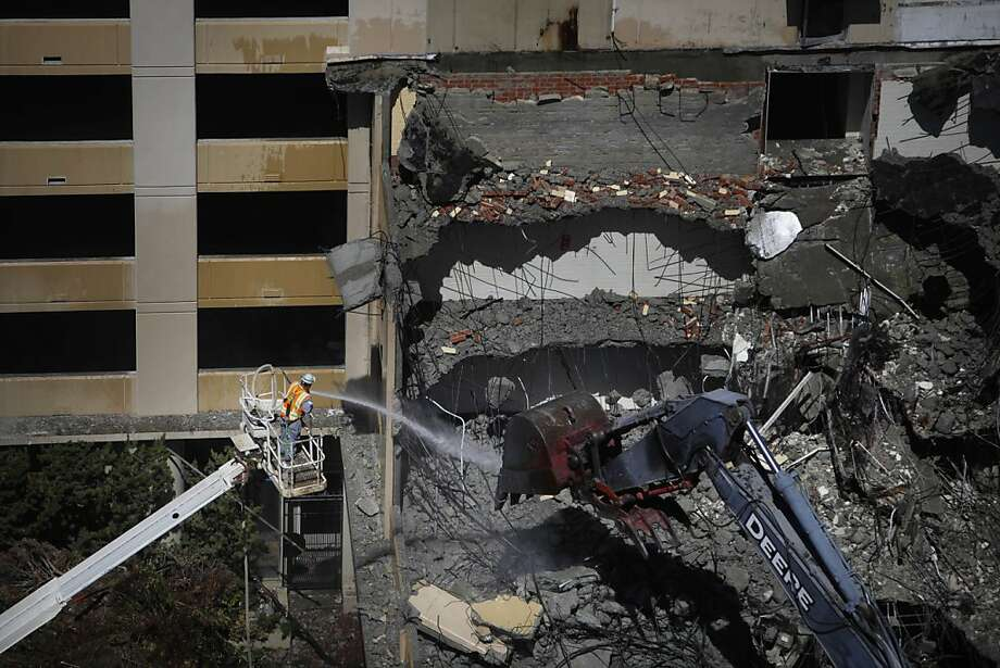 Demolition is seen at the site of phase three of the Trinity Place project on Wednesday, April 11, 2013 in San Francisco, Calif. Photo: Lea Suzuki, The Chronicle
