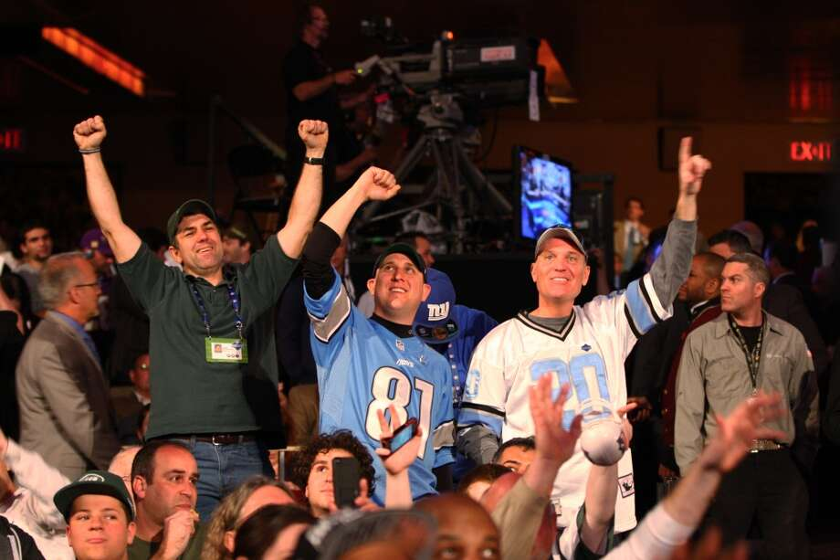 Fans at Radio City Music Hall during the 2013 NFL Draft.