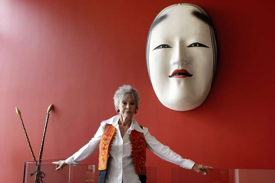 "Performer Rita Moreno stands in her home, Monday August 1, 2011, in Berkeley, Calif. Moreno, who has won an Oscar, a Tony, two Emmys and a Grammy, is opening in a one-women show in September about her life, called Rita Moreno: Life Without Makeup..."" Photo: Lacy Atkins, The Chronicle"