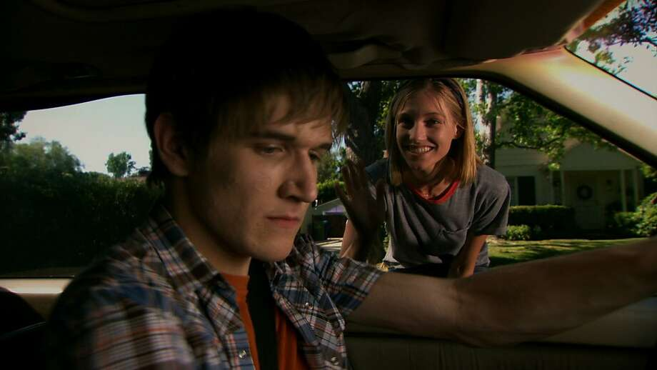 Bo Burnham as Zach Stone, with Caitlin Gerard as Amy, can drive the viewer so crazy his comic gifts are lost in the din. Photo: MTV