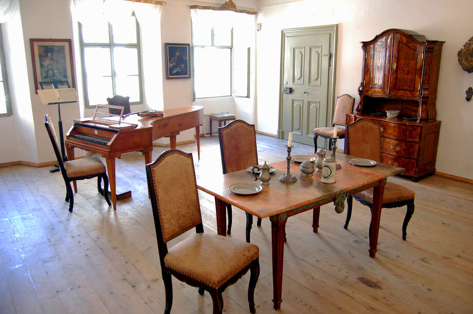 The star of Salzburg's Mozart Residence is one of Mozart's very own pianos, seen here near the windows. Photo: Rick Steves, Ricksteves.com