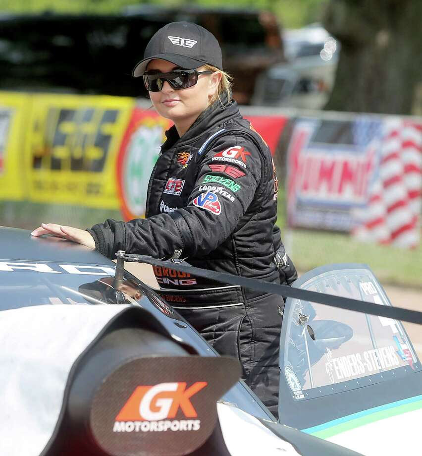4/26/13:  Pro Stock driver , Erica Enders-Stevens waits in line for her first qualifying run of the day on the first day of qualifying at Royal Purple Speedway in Baytown, Texas. Photo: Thomas B. Shea, For The Chronicle / © 2013 Thomas B. Shea
