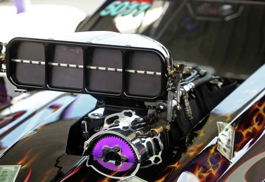 4/26/13: Detail of a top fuel dragster on the first day of qualifying at Royal Purple Speedway in Baytown, Texas. Photo: Thomas B. Shea, For The Chronicle / © 2013 Thomas B. Shea
