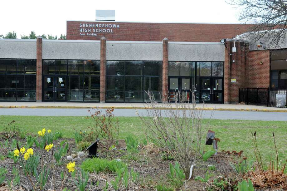 Exterior of Shenendehowa High School on Friday, April 26, 2013 in Clifton Park, N.Y. The Shenendehowa Central School District is completing work on a $156.7 million 2013-2014 budget that raises taxes by 2.3 percent. Shenendehowa is one of many local school districts that have consistently kept tax increases under that state?s property tax cap. (Lori Van Buren / Times Union) Photo: Lori Van Buren / 10022181A