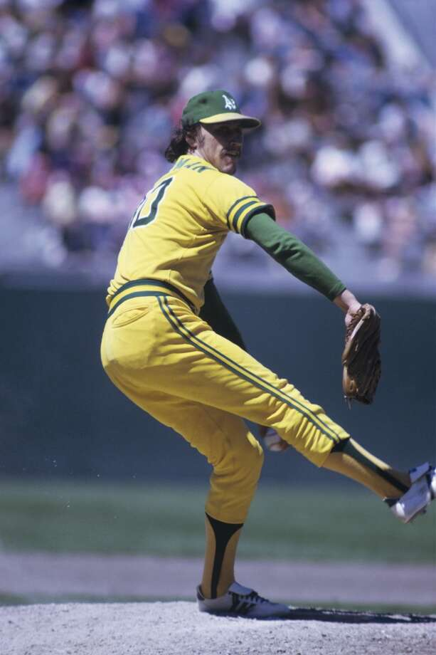 Pitcher Ken Holtzman #30 of the Oakland A's throws a pitch during a game on July 22, 1973 against the Cleveland Indians at the Oakland-Alameda County Coliseum in Oakland, California.