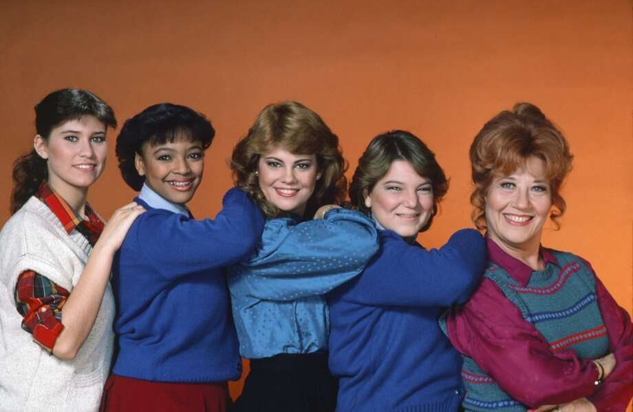 ''The Facts of Life,''  with (l-r): Nancy McKeon,  Kim Fields, Lisa Whelchel, Mindy Cohn and Charlotte Rae. (Show aired from late 70s to 80s).