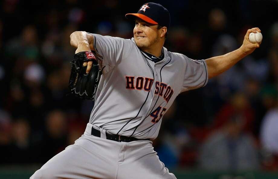 Astros pitcher Erik Bedard delivers a pitch. Photo: Jim Rogash, Getty Images