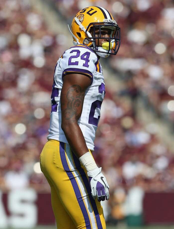 COLLEGE STATION, TX - OCTOBER 20:  Tharold Simon #24 of the LSU Tigers at Kyle Field on October 20, 2012 in College Station, Texas.  (Photo by Ronald Martinez/Getty Images)