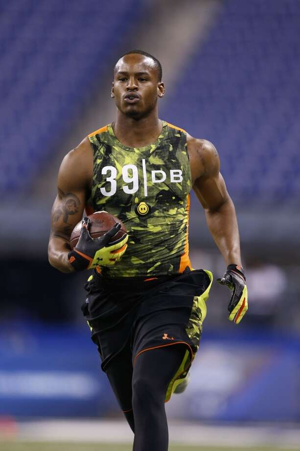 INDIANAPOLIS, IN - FEBRUARY 26: Tharold Simon of LSU in action during the 2013 NFL Combine at Lucas Oil Stadium on February 26, 2013 in Indianapolis, Indiana. (Photo by Joe Robbins/Getty Images)