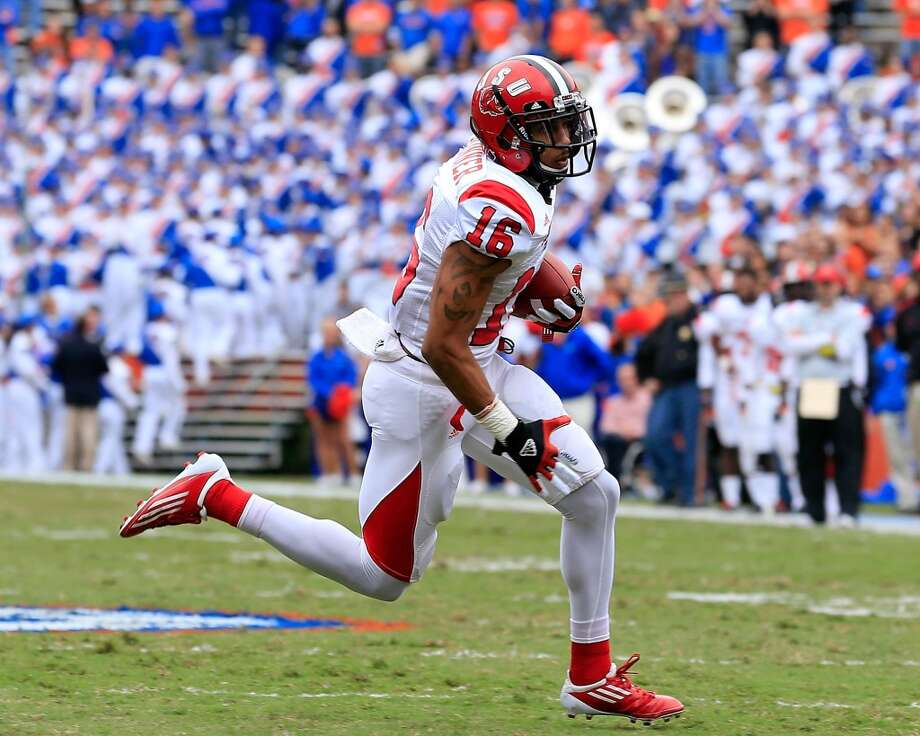6th roundWith the No. 195 pick (sixth round) in the draft the Texans selected wide receiver Alan Bonner from Jacksonville State. Photo: Sam Greenwood, Getty Images