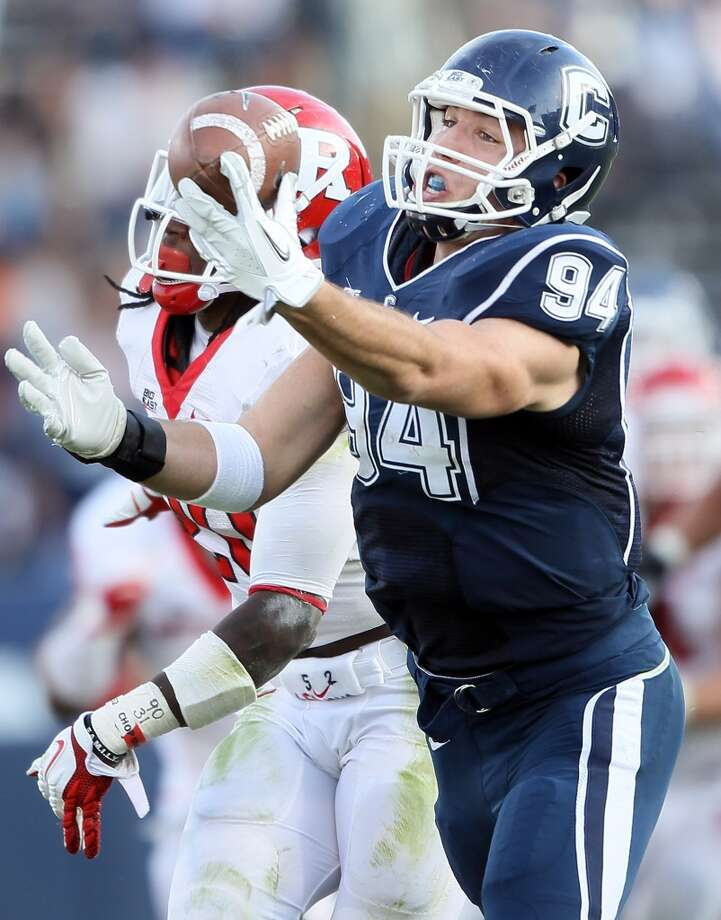 6th roundWith the No. 201 pick (sixth round) in the draft the Texans selected tight end Ryan Griffin from Connecticut. Photo: Elsa, Getty Images