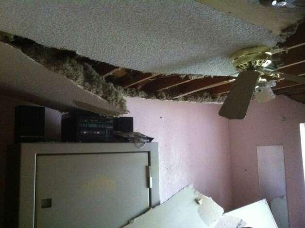 Destruction to the West home. April 27, 2013. Photo: Craig Kapitan / San Antonio Express-News